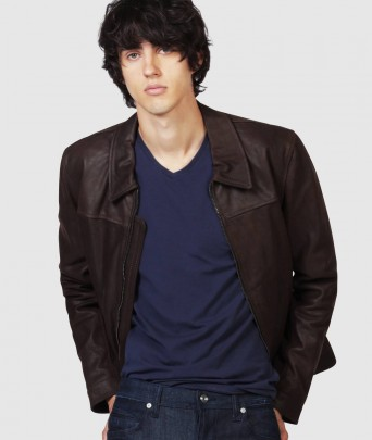 Blouson en cuir ARON STRIKING