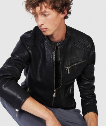 Blouson en cuir CROSS BENTLEY