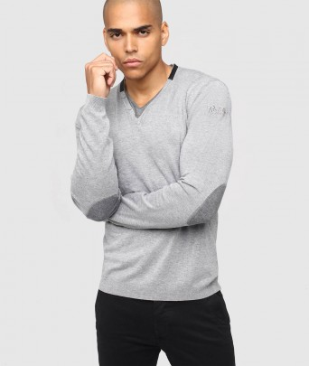 DARRIUS ELVIS knitted sweater - Anthracite China