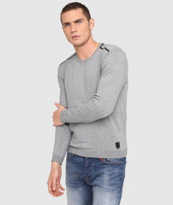ENVY ELVIS knitted sweater - grey chine
