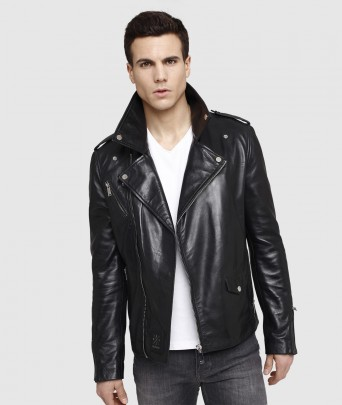 Blouson en cuir DYER GETTY