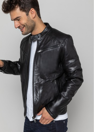 Leather jacket LEERON MOJITO