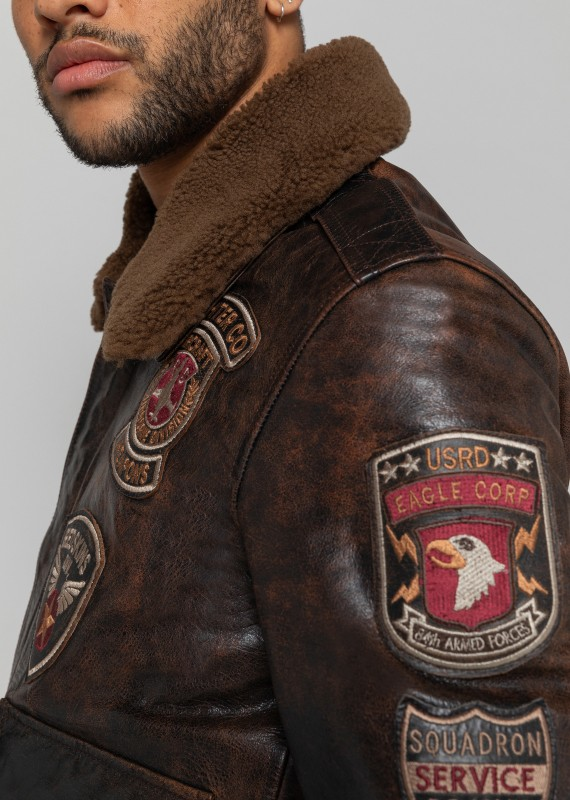 Leather jacket PERRY DISCOVERY