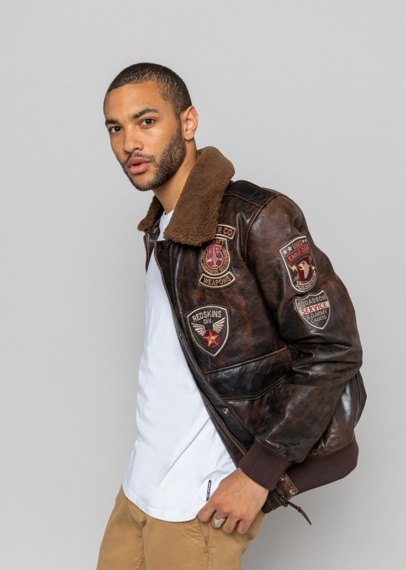 Blouson cuir PERRY DISCOVERY