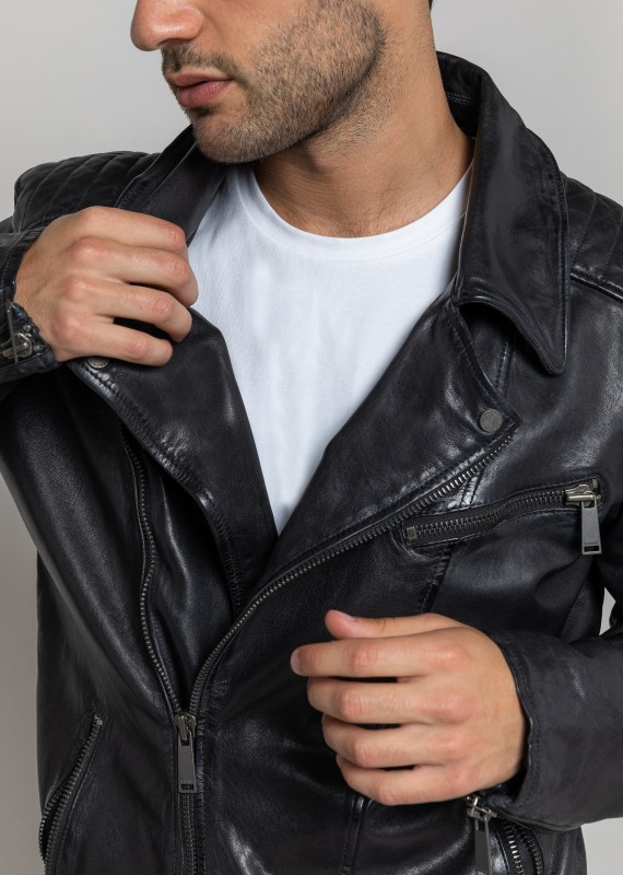 Leather jacket SCOTTY WONDER