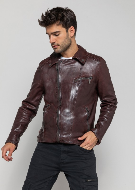 Blouson cuir SCOTTY WONDER