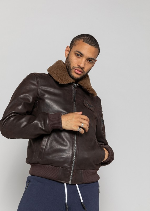 Blouson cuir COMMANDER STRIKING