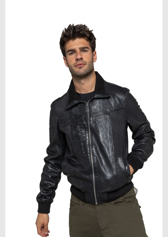 Leather jacket RUBBETS CALISTA
