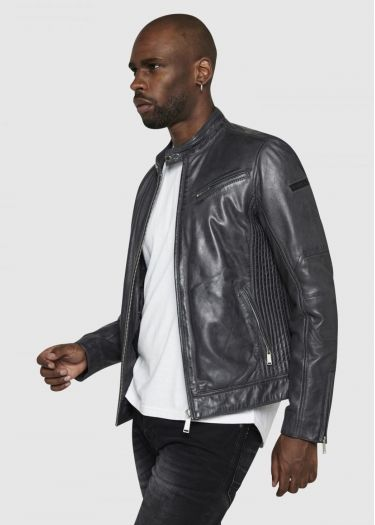 TRUST CASTING leather jacket