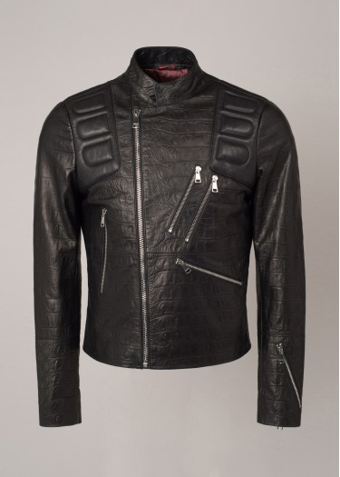 Leather jacket KAYMAN CROCO