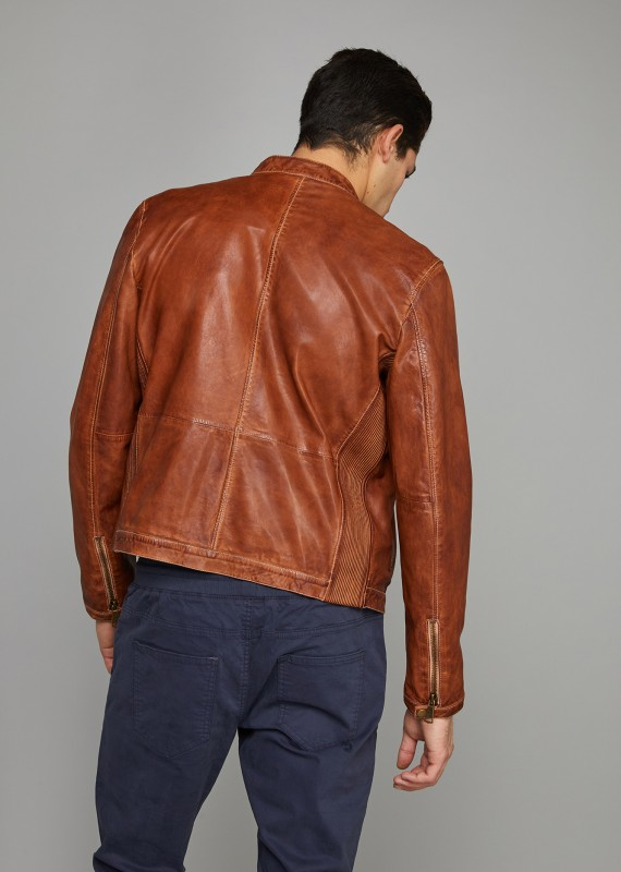 Leather Jacket MCQUEEN RETRO
