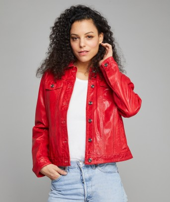 Leather Jacket PERCY RETRO