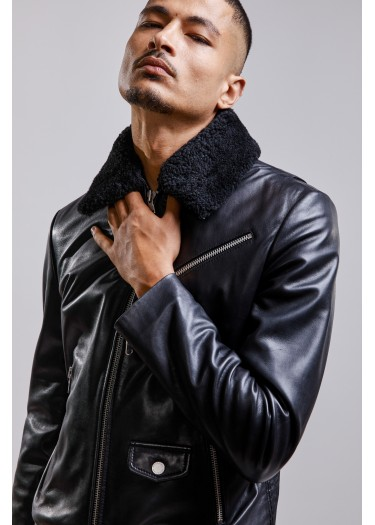 VESTE en cuir CAREY BENTLEY