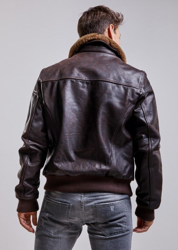 Leather jacket COMMANDER STRIKING