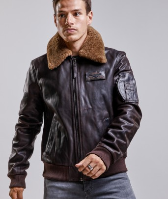 Blouson en cuir COMMANDER STRIKING