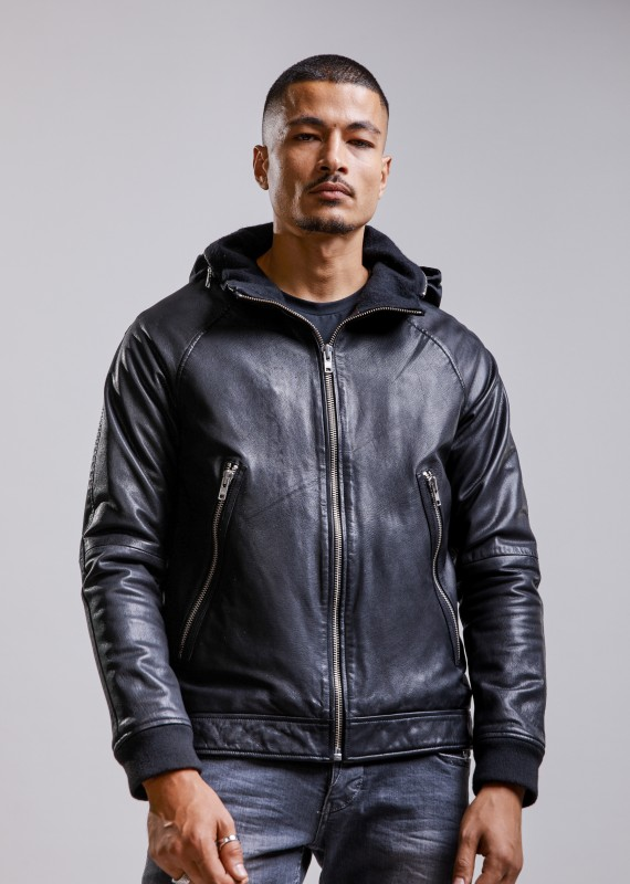 Leather jacket EASY MUSTANG