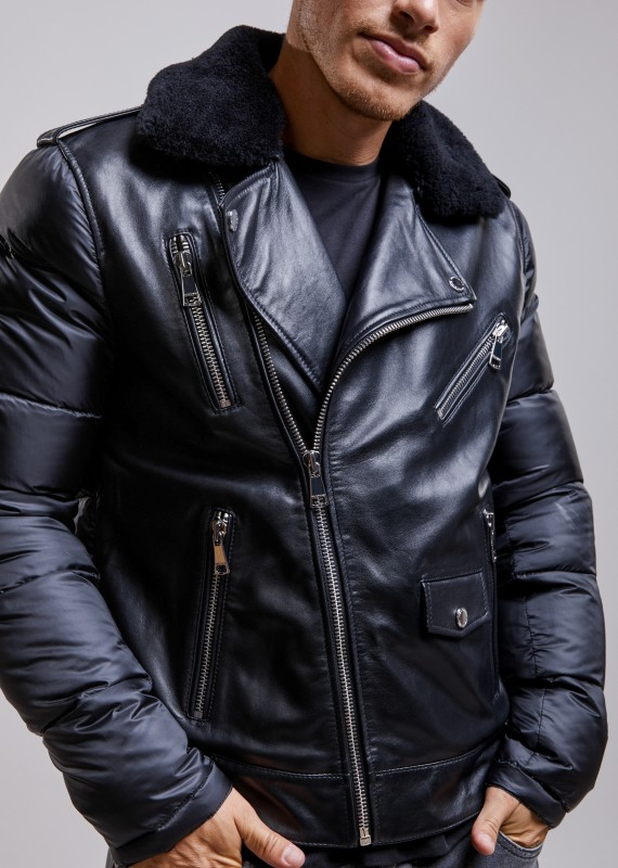 VESTE en cuir LOWER SHYNE