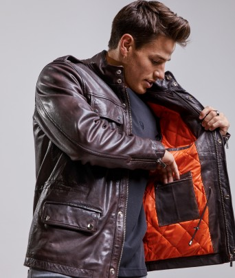 Leather jacket  LUCIANO OMEGA