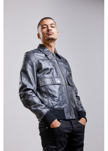 Leather jacket RUFF RUBOFF
