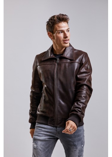 Leather jacket VERSUS STRICKING