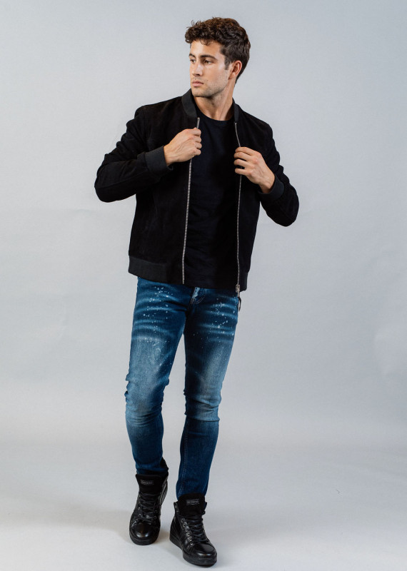 Leather Jacket BOWER AFRICAN