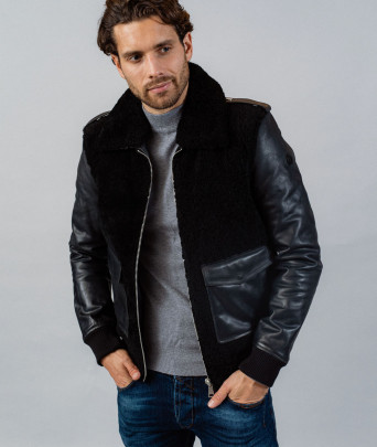 Leather jacket BROMAN STRICKING