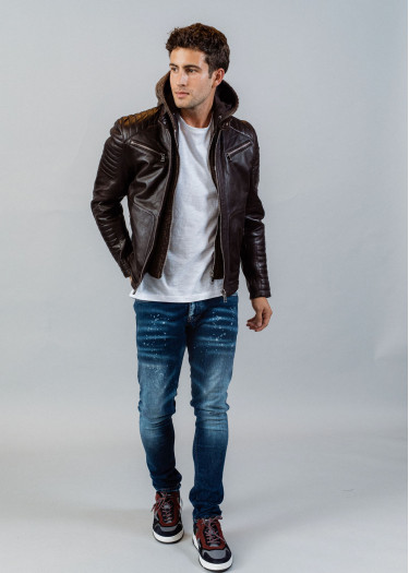 Leather jacket BYRON MOJITO