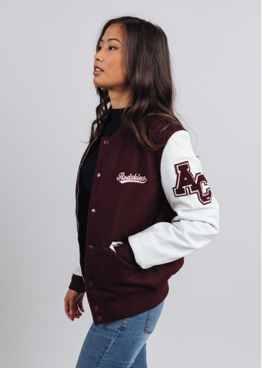 Collab Leather Jacket COLLEGE MICHIGAN